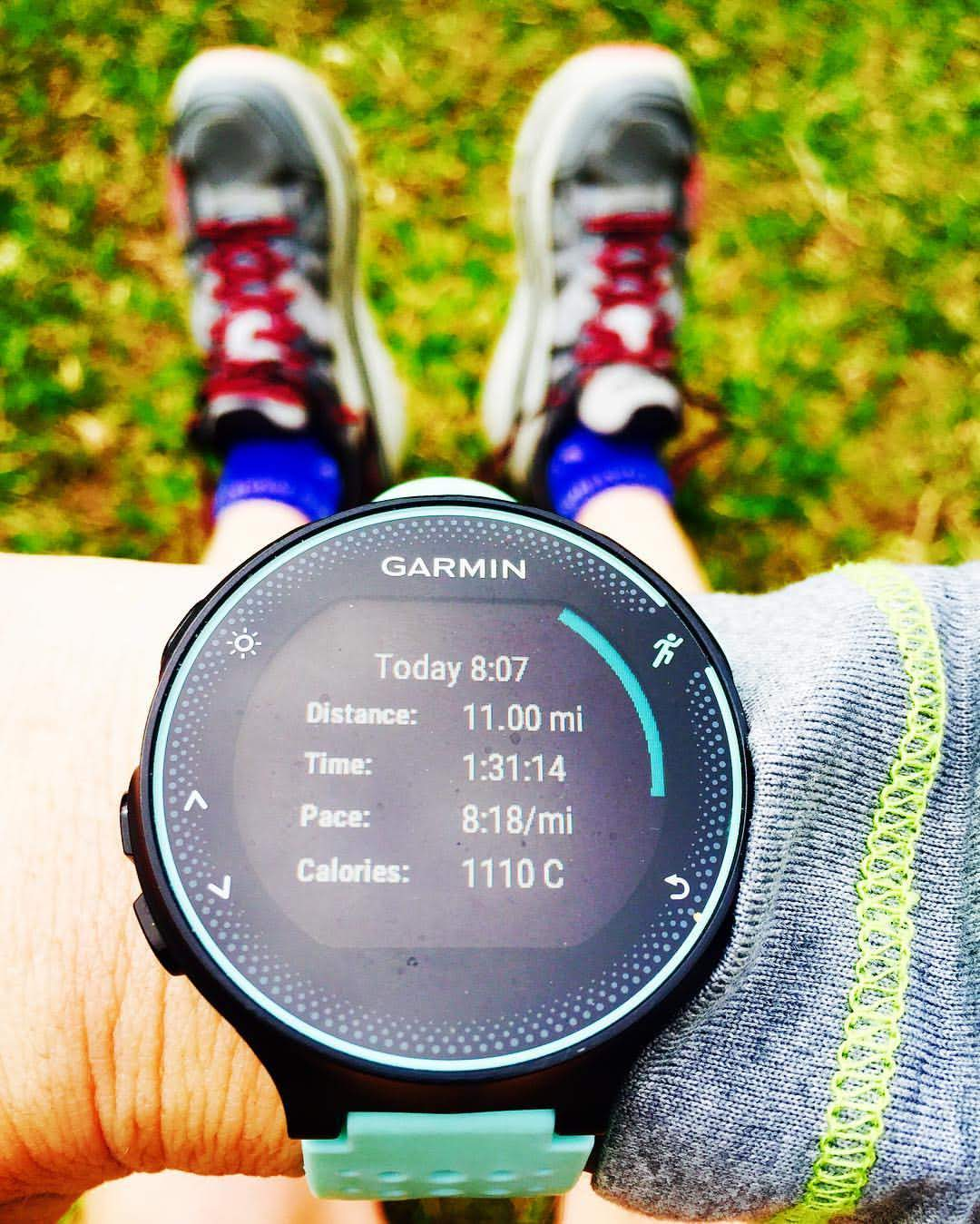 Typical Garmin Forerunner 235 showing a long run completed by a runner.