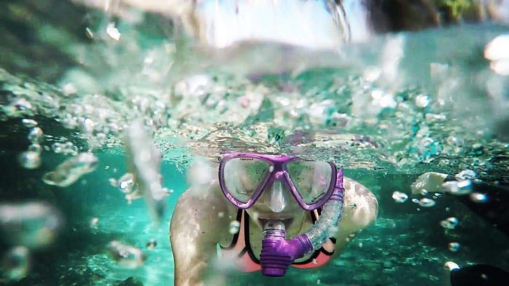 The crystal clear water of Three Sisters Spring.