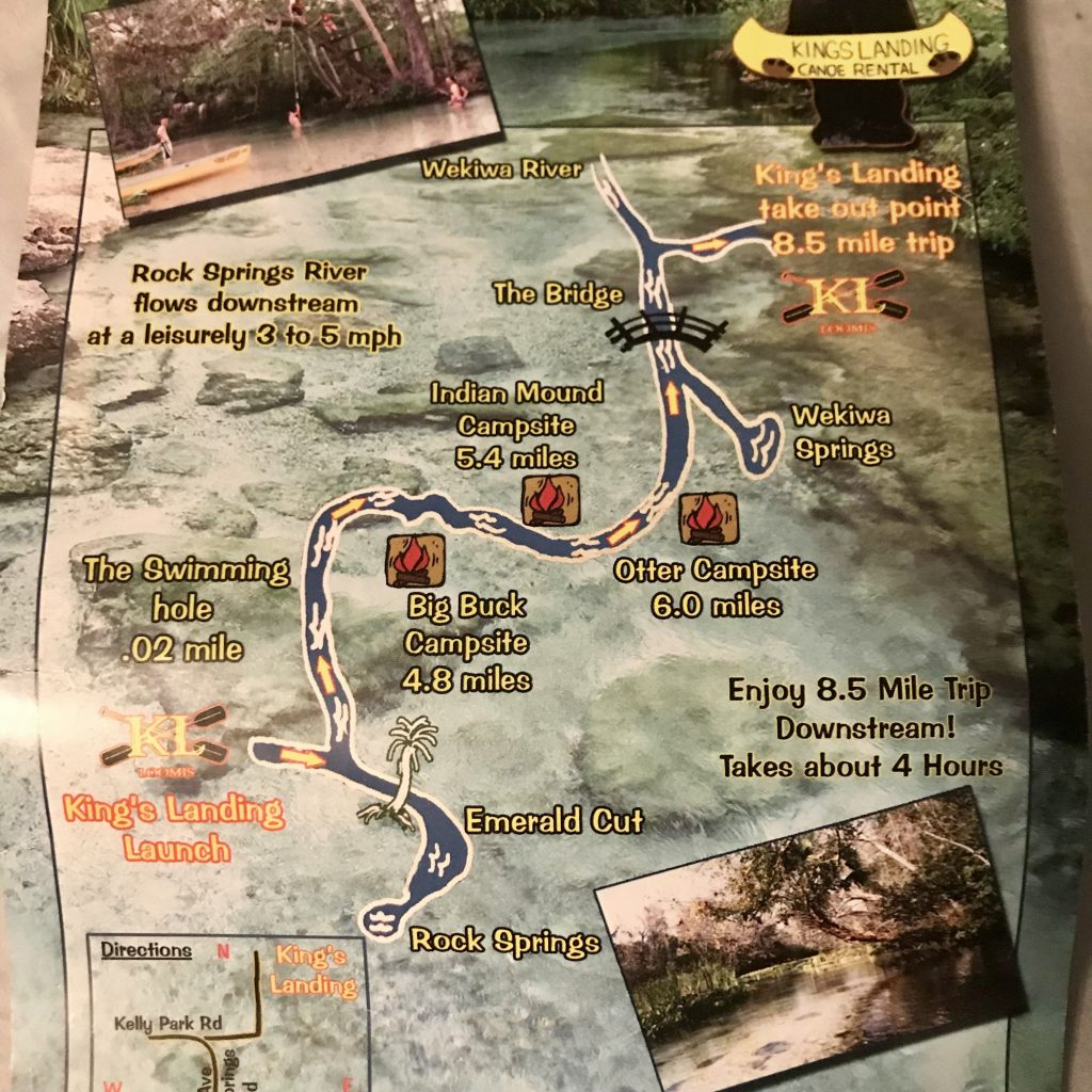 A map showing the route from King's Landing to Wekiva Island.
