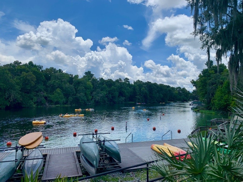 Rainbow River Kayaking and Tubing opportunities from K.P. Hole can be seen from their dock.