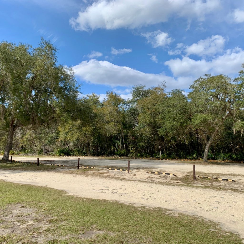 Parking lot at Silver Glen Springs in the Ocala National Forest, Florida.