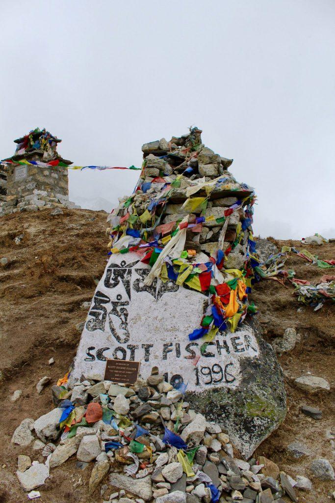 Memorial Hill along Everest Base Camp Trek.