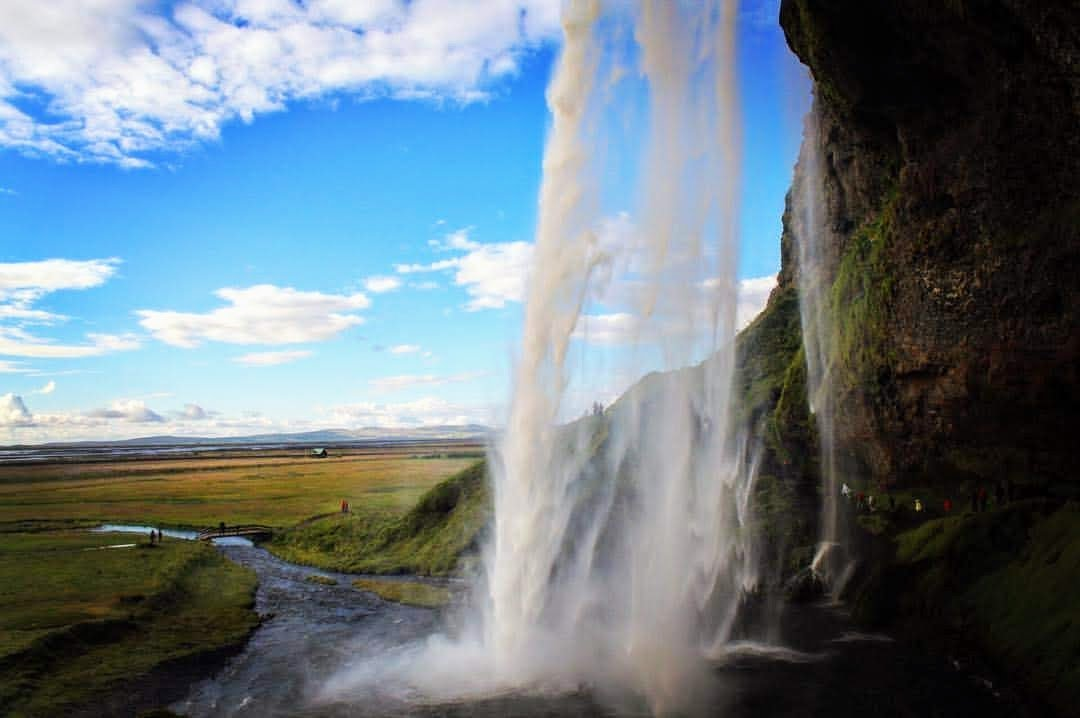 Waterfall in Iceland.