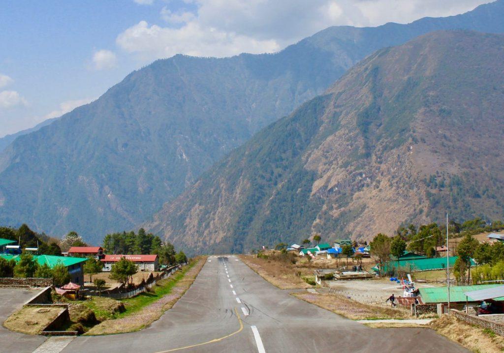 Landing strip in Lukla, Nepal.