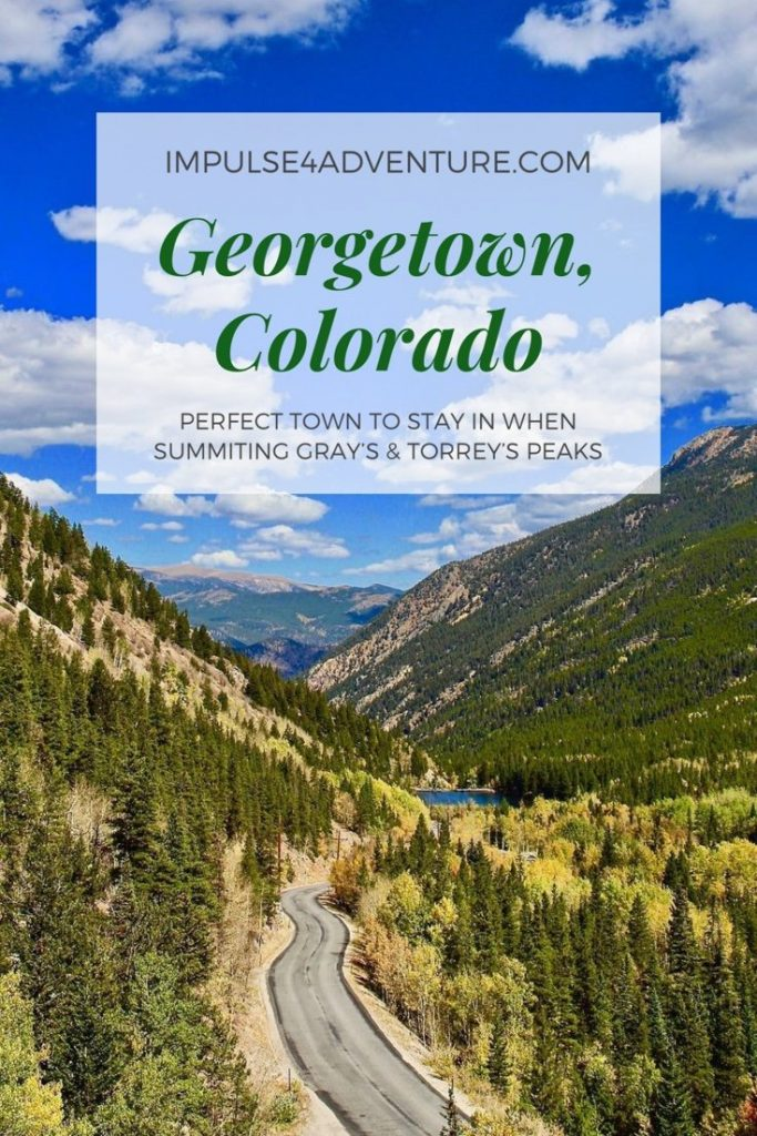 Georegtown, Colorado. A short drive from Denver will land you in this cute mountain town with easy access to multiple 14ers and plenty of scenic vistas to enjoy during your stay.