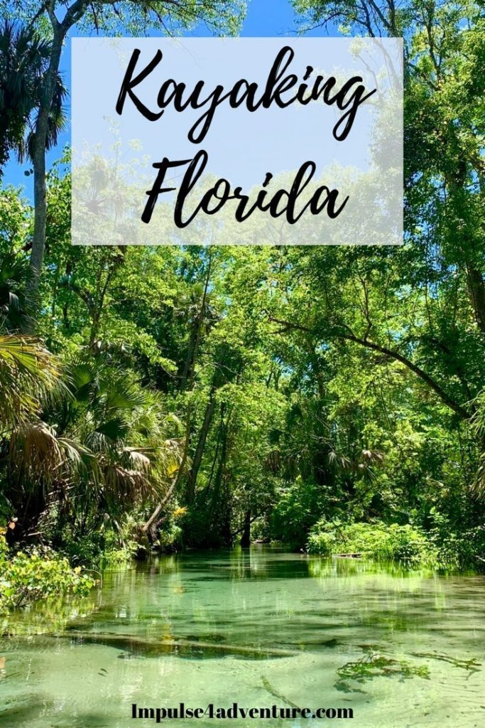 Kayaking Florida Pin for Pinterest