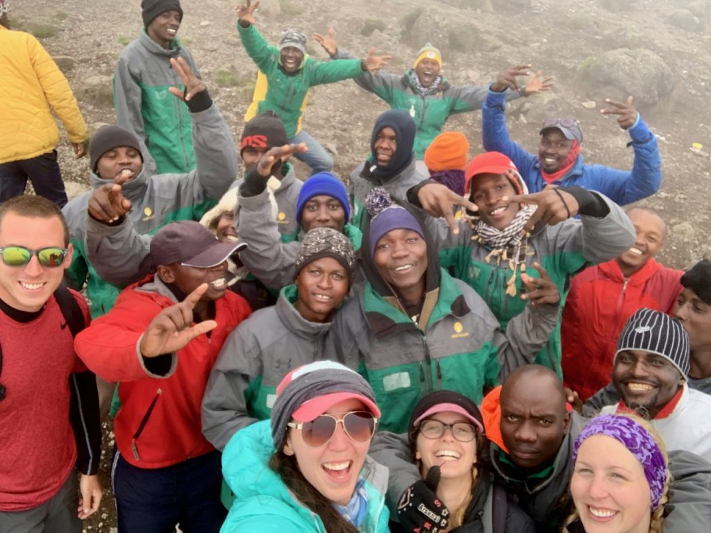 A group selfie with Kilimanjaro Backcountry Adventures.