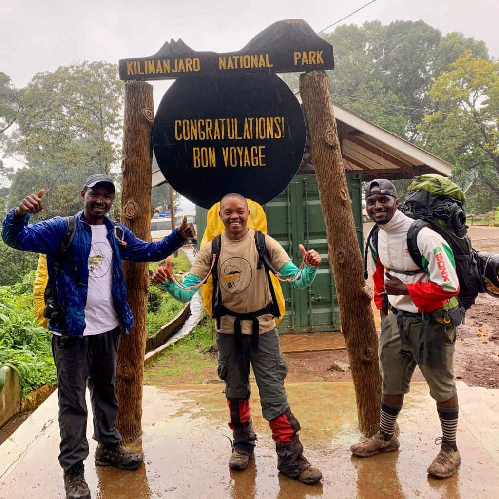 Kilimanjaro Backcountry Adventures guides at Mweka Gate.