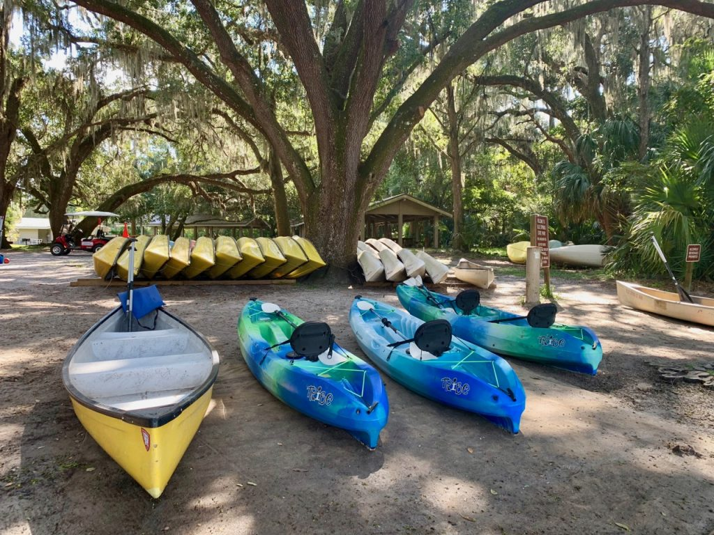 Kayaking Blue Springs is possible with rentals from St. John's River Cruises