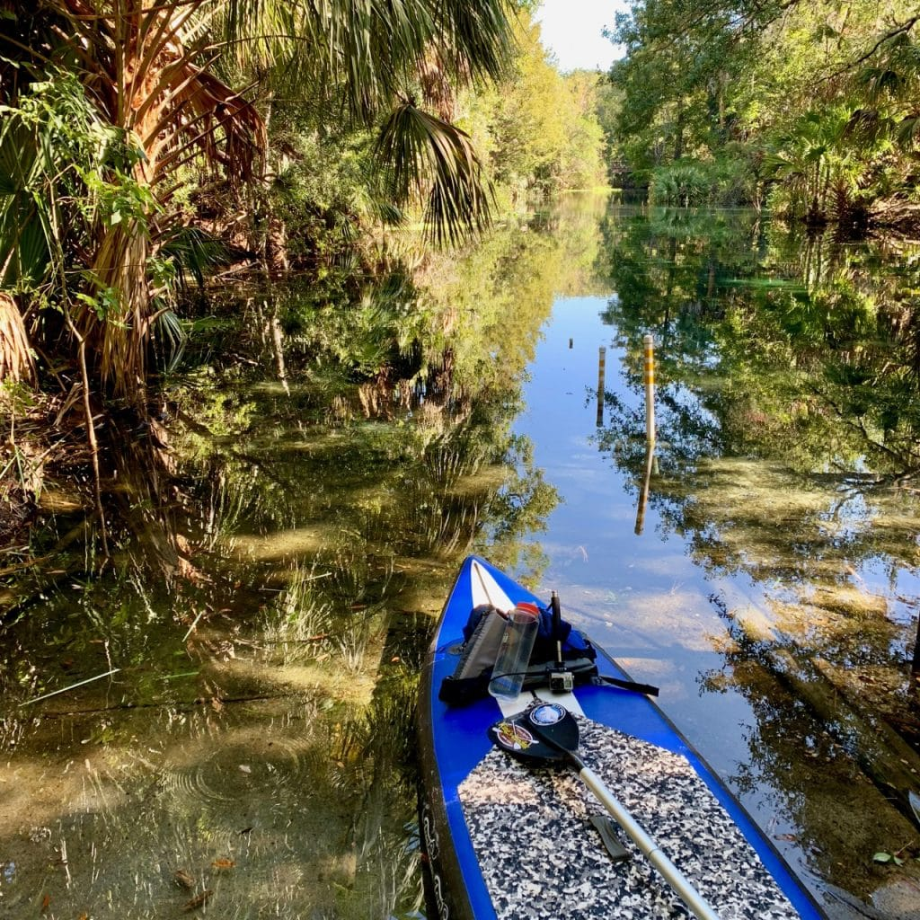 The launch ramp when kayaking Silver Springs.